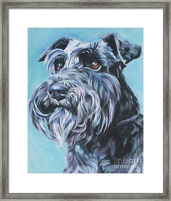 Schnauzer Framed Print by Lee Ann Shepard