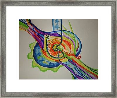 Framed Print featuring the painting Scintillating Scallion by Erika Swartzkopf
