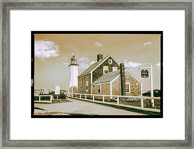 Scituate Lighthouse In Scituate, Ma Framed Print by Peter Ciro