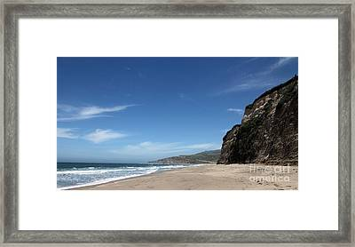 Scott Creek Beach California Usa Framed Print by Amanda Barcon