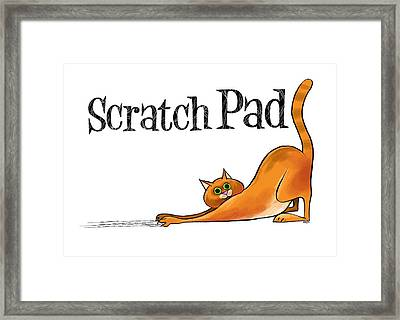 Scratchy Cat Framed Print