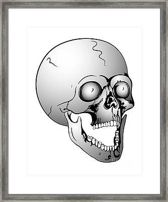 Screaming Skull Framed Print by Michal Boubin