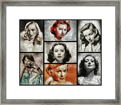 Screen Sirens - Hollywood Legendary Actresses Framed Print by Esoterica Art Agency