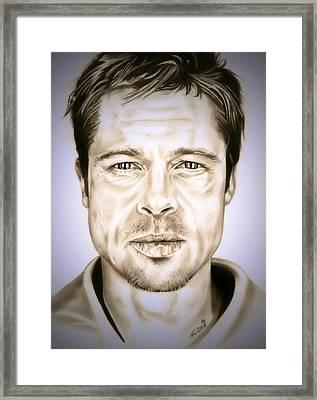 Se7en Brad Pitt Framed Print by Fred Larucci