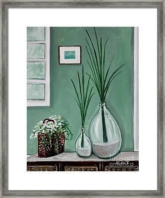 Sea Grass Framed Print by Elizabeth Robinette Tyndall