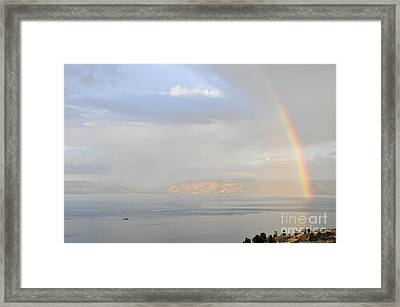 Sea Of Galilee Framed Print by Shay Levy