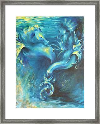 Seahorses In Love 3 Framed Print