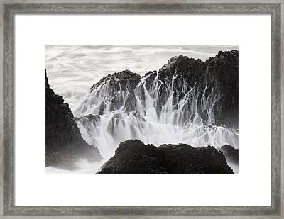 Seal Rock Waves And Rocks 5 Framed Print