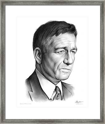 Sean Pertwee Framed Print by Greg Joens
