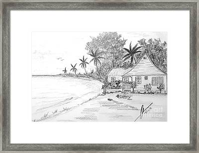 Seaside Cottage  Framed Print