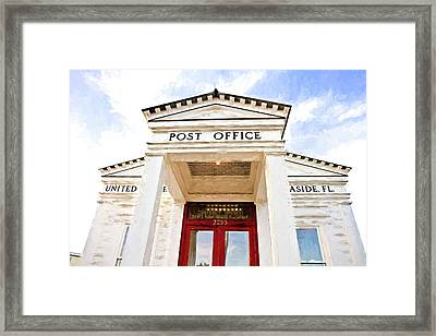 Seaside Post Office Framed Print by Scott Pellegrin