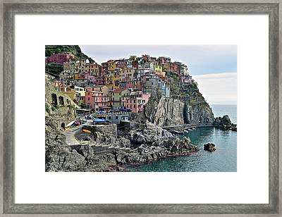 Framed Print featuring the photograph Seaside Village by Frozen in Time Fine Art Photography