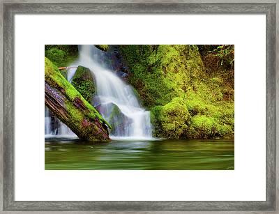 Whte Cascade Framed Print