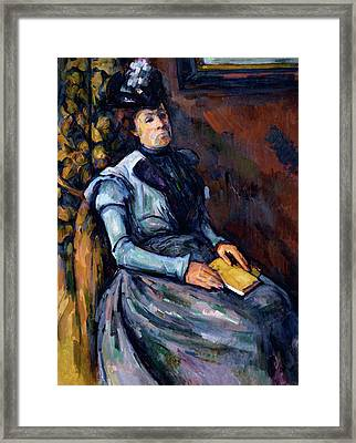 Seated Woman In Blue Framed Print