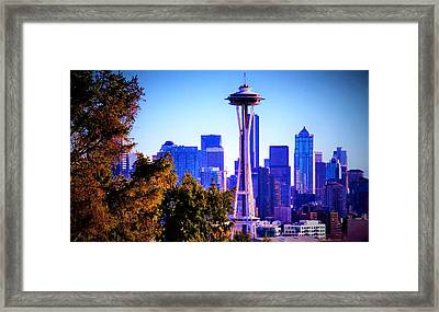 Seattle Afternoon Framed Print
