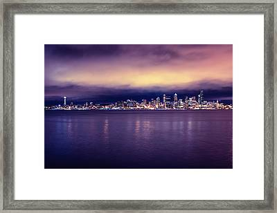 Seattle From Alki Framed Print by Tanya Harrison