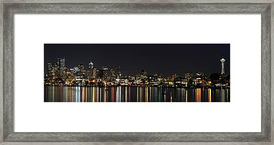 Seattle Skyline Framed Print by Michael Gass