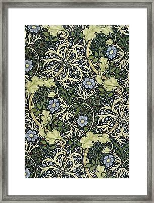 Seaweed Pattern Framed Print