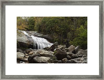 Second Falls - Blue Ridge Falls Framed Print