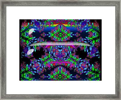 Framed Print featuring the digital art Secret Garden by Robert Orinski