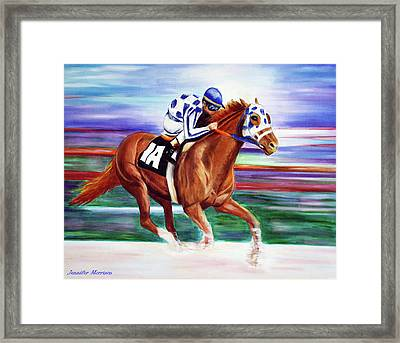 Secretariat Painting Blurred Speed Framed Print