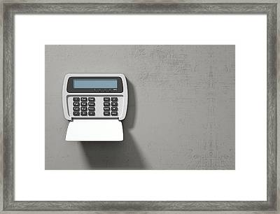 Security System Panel  Framed Print
