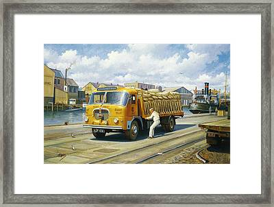 Seddon At Poole Docks. Framed Print by Mike  Jeffries