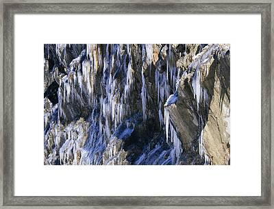 Seeping Ice Framed Print