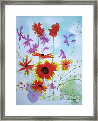 Selected Wild Flowers Framed Print by Hal Newhouser