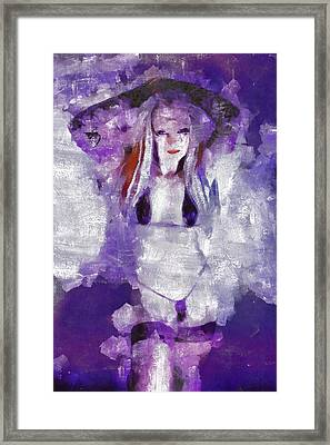 Self Portrait Erotica By Mb Framed Print by Mary Bassett