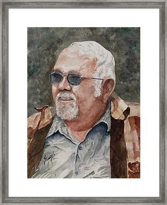 Self Portrait Framed Print by Sam Sidders