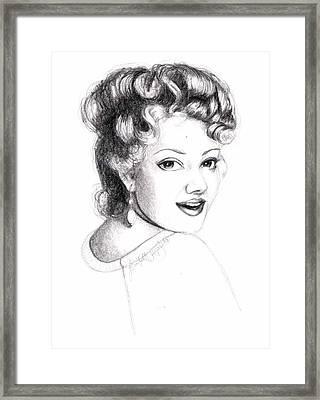 Self Portrait Framed Print by Scarlett Royal