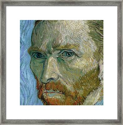 Self-portrait Framed Print by Vincent Van Gogh