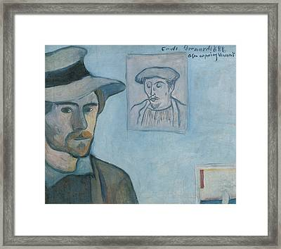 Self-portrait With Portrait Of Gauguin Framed Print