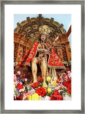Senhor Bom Jesus Da Pedra Framed Print