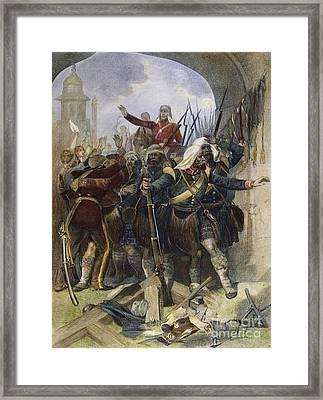 Sepoy Rebellion, 1857 Framed Print by Granger