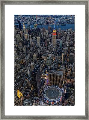 September 11 Nyc Tribute Framed Print by Susan Candelario