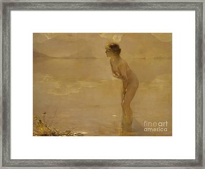 September Morn Framed Print by Paul Chabas