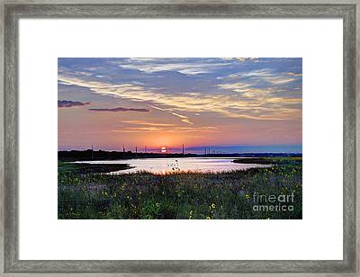 September Sunrise Over The Baker Wetlands Framed Print