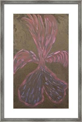Seraph On Black Framed Print