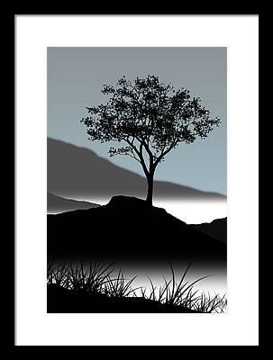 Lone Framed Prints