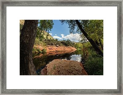 Serenity Creekside  Framed Print