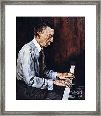 Sergei Rachmaninoff Framed Print by Granger