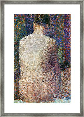 Seurat: Model, C1887 Framed Print by Granger