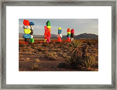 Seven Magic Mountains Framed Print