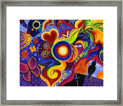 Framed Print featuring the painting Magical Eclipse by Marina Petro