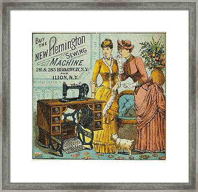 Sewing Machine Ad, C1880 Framed Print by Granger