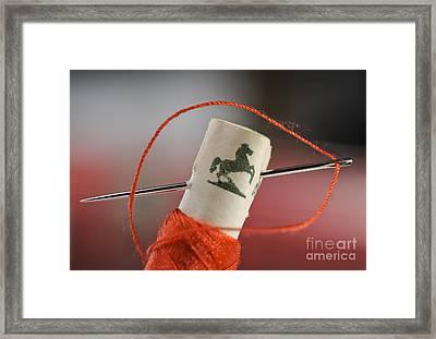 Sewing Supplies Framed Print by Torsten Becker