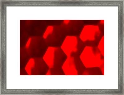 Sexagons Framed Print by Jouko Mikkola