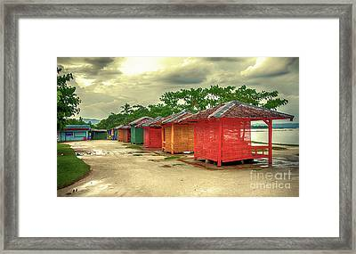 Framed Print featuring the photograph Shacks by Charuhas Images